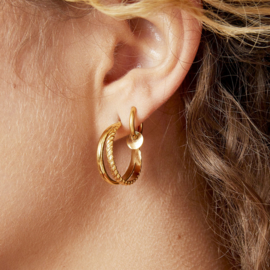 Oorbellen Sophisticated - goud