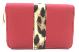portemonnee panterprint - rood