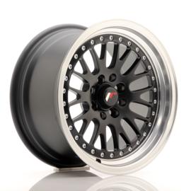 JR10 - Mat zwart/zilver