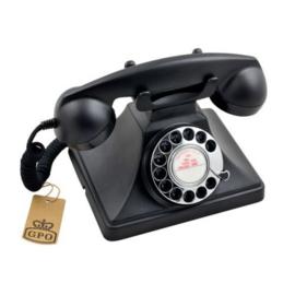 Fifties telefoon - zwart