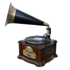 Muziekcentrum met nostalgische grammofoon