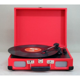 Kofferplatenspeler rood - Soundmaster