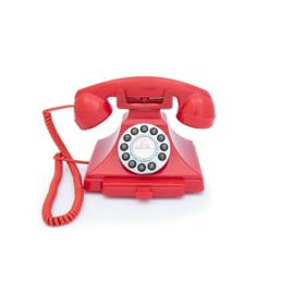 Twenties bakeliet-look telefoon - rood