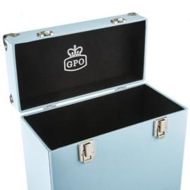 Vinyl opbergkoffer 12'' blauw - GPO
