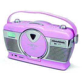 Retro-radio met CD-speler roze - Soundmaster
