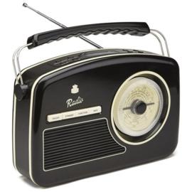Fifties radio zwart - GPO RYDELL