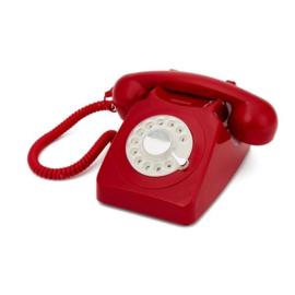 Seventies telefoon - rood