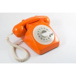 Seventies telefoon - oranje