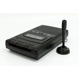 Draagbare cassetterecorder met microfoon - GPO