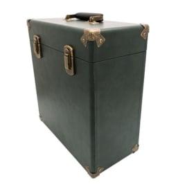 Vinyl opbergkoffer 12'' groen - GPO