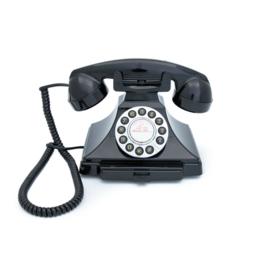 Twenties bakeliet-look telefoon - zwart