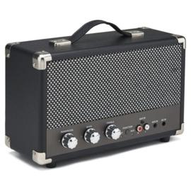 Nostalgische bluetooth speaker zwart - GPO WESTWOOD