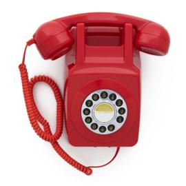 Seventies muurtelefoon - rood