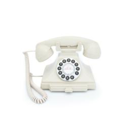Twenties bakeliet-look telefoon - ivoor