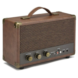 Nostalgische bluetooth speaker bruin - GPO WESTWOOD