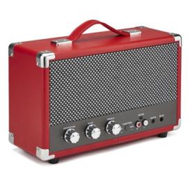 Nostalgische bluetooth speaker rood - GPO WESTWOOD