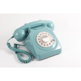 Seventies telefoon - blauw