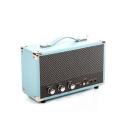 Nostalgische bluetooth speaker blauw - GPO WESTWOOD