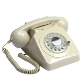 Seventies telefoon - beige