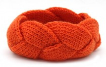 Knitted Headband Orange