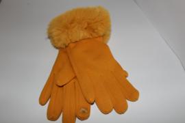 Fluffy Handschoenen Oker