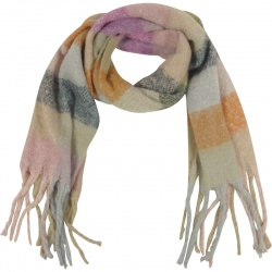 Sjaal Soft Multi Pastel