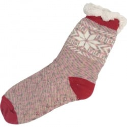 Kerstsokken Sneeuwvlok Rood/Roze