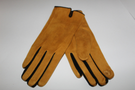 Handschoenen Suedine Oker-Zwart