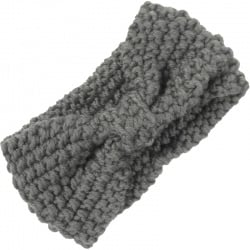 Headband Knitted Bow Grey