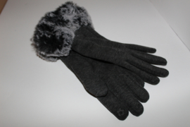 Fluffy Handschoenen Grijs Gemêleerd
