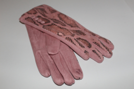 Handschoen Slang Roze