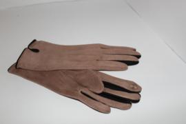 Handschoenen Suedine Beige Zwart