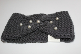 Knitted met parels grijs