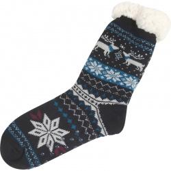 Kerstsokken Noors Sneeuwvlok Zwart