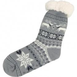 Kerstsokken Noors Sneeuwvlok Grijs