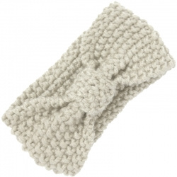 Headband Knitted Bow Ivory