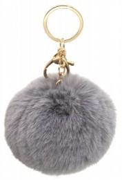 Sleutelhanger Fluffy Grey