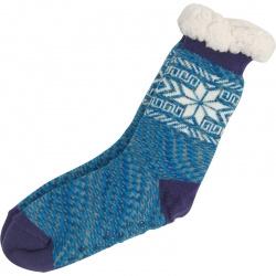 Kerstsokken Sneeuwvlok Paars/Blauw