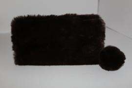 Soft Fake Fur Brown Portemonnee