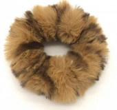 Fluffy scrunchie bruin panter