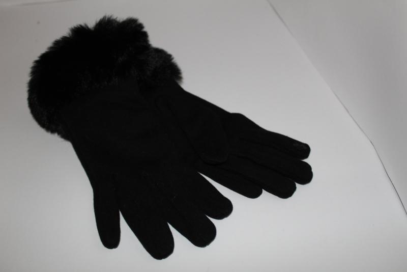Fluffy Handschoenen Zwart