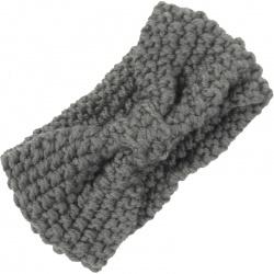 Headband Knitted Bow Grey