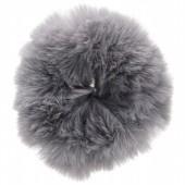 Fluffy scrunchie grijs groot
