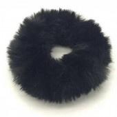 Fluffy scrunchie zwart