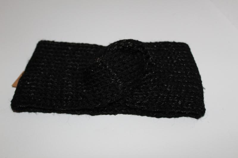 Haarband Zwart met glitters