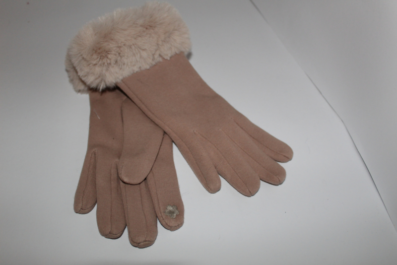 Fluffy Handschoenen Beige