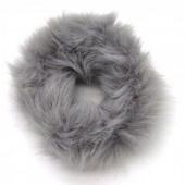 Fluffy scrunchie donker grijs