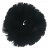 Fluffy scrunchie zwart groot