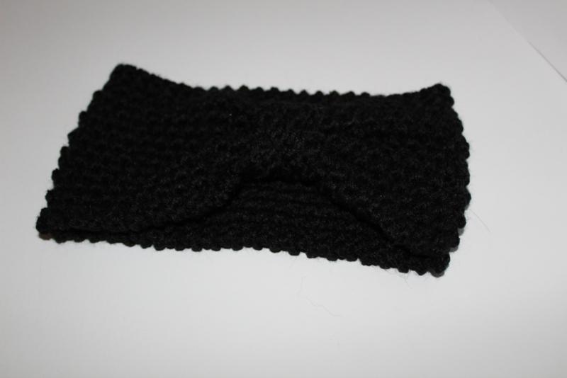 Knitted Haarband Zwart