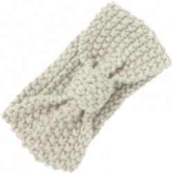 Headband Knitted Bow Ivory